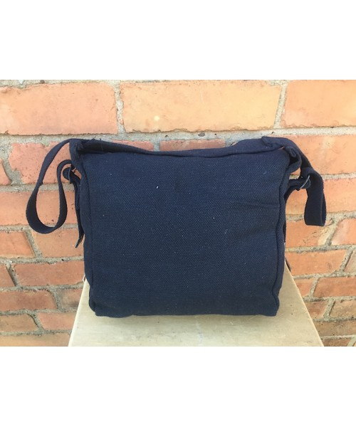 British Army 37 Pattern Canvas WW2 Style Shoulder Bag Black