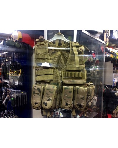 British Army Style MTP Tactical Assault Vest Airsoft