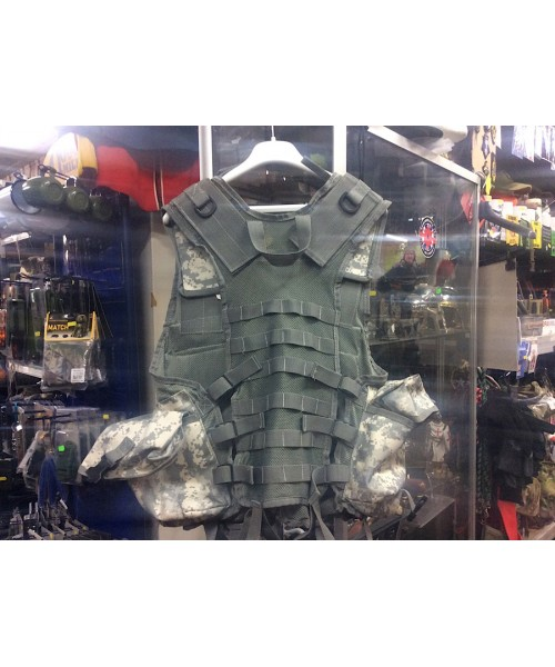 US Army Style Digital ACU Camo Assault Vest