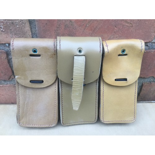 French Army Leather Magazine Pouches Grade 2
