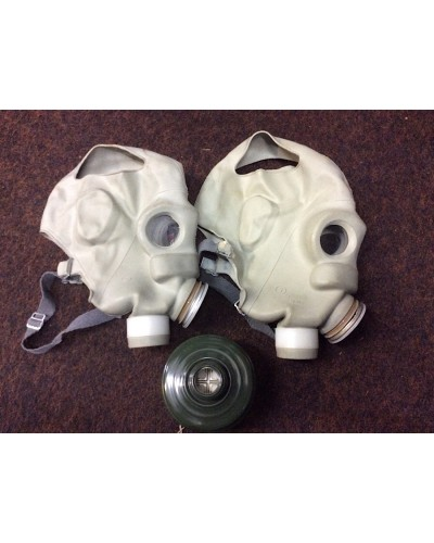Soviet HU Gas Masks Rubber With Filters