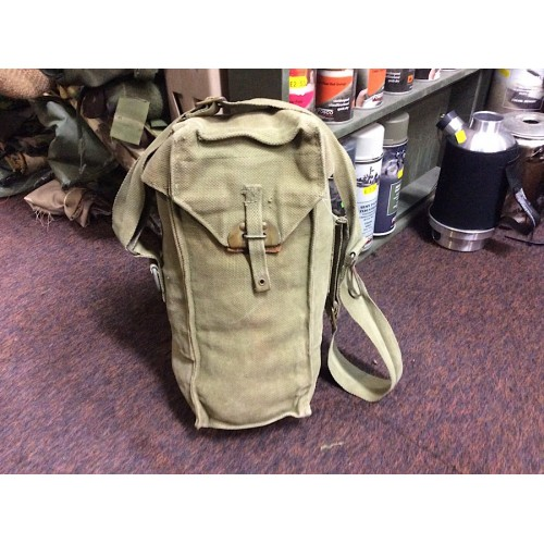 Belgian Army Canvas Gas Mask Bags